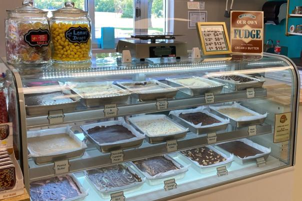 The fudge case at The Fudge Kettle