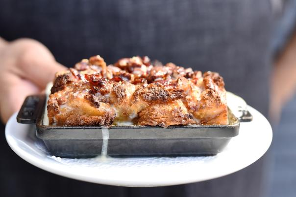 Bacon Tres Leches Bread Pudding - Killen's