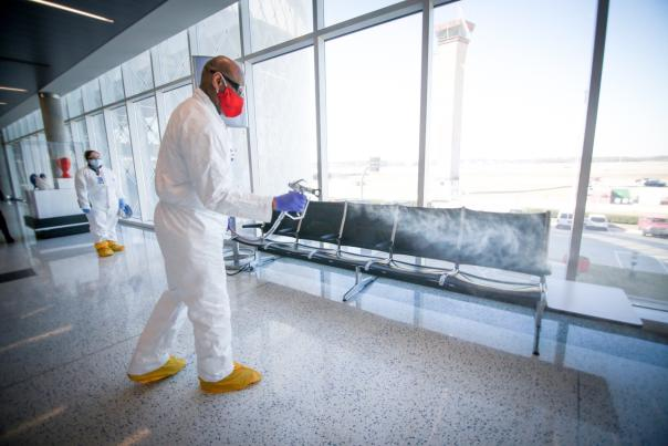 Houston Airport System -cleaning procedures at airport-