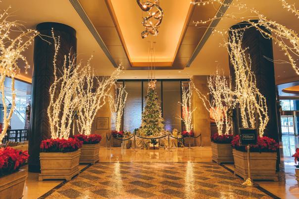 Hilton Americas Holiday Decor Christmas Lights
