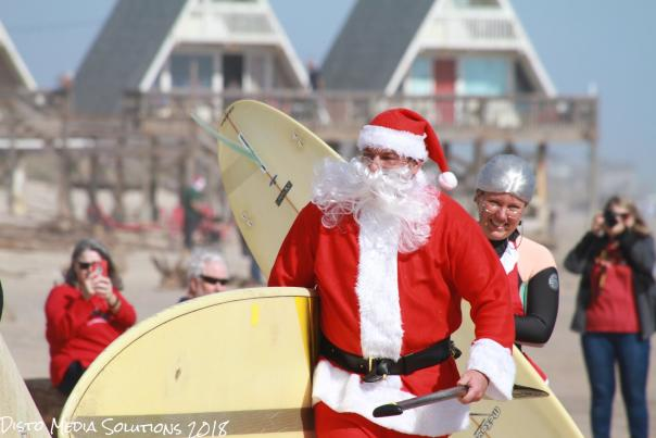 Surfing Santa in Brazosport