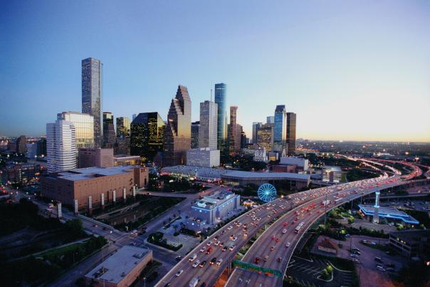 Downtown Houston Skyline  - Dusk