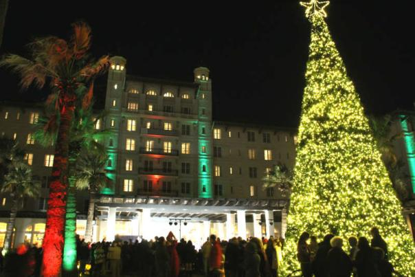 Iluminación Navideña de Galveston Hotel Galvez & Spa