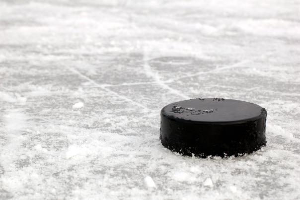Skating Rink with Hockey Puck