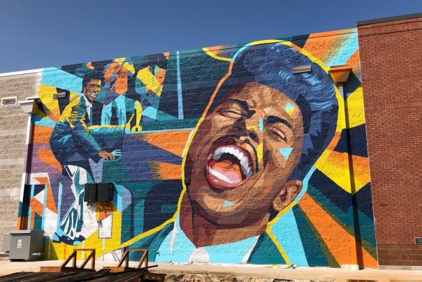 Little Richard Mural MidCity Logan Tanner