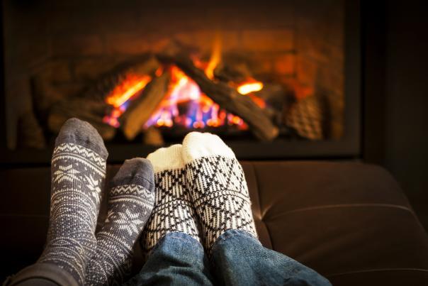 Socks and Fireplace