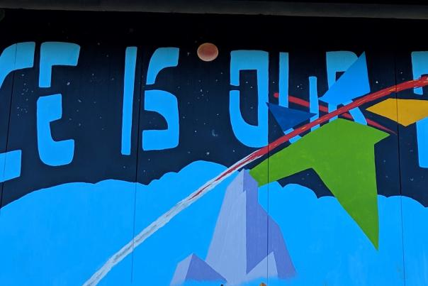 Space is Our Place mural - header