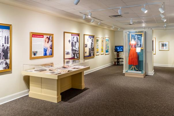 Ava Gardner Museum exhibit gallery located in Historic Downtown Smithfield, NC.