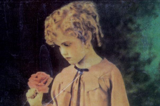 Ava Gardner as a child (age 4) in a play near Smithfield, NC.