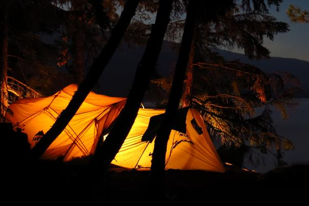 tenting on a lake