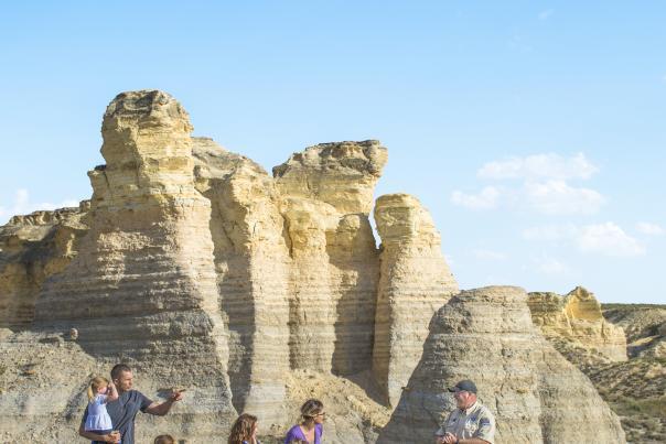 Little Jerusalem Badlands State Park - family and warden - Logan County, KS