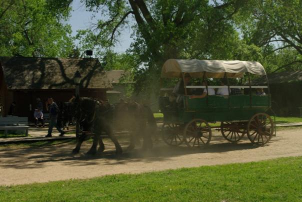 Covered Wagon pulled by horses