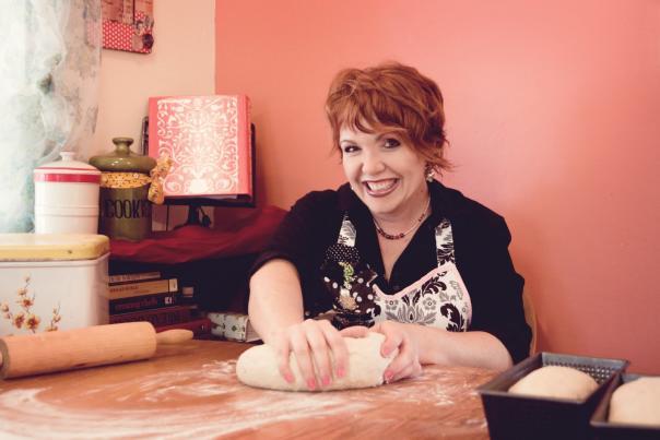 Chef Tess Bakeresse Kneading Bread Dough