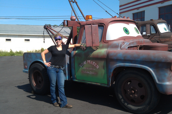 Sarah on Route 66