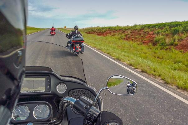 Motorcycles on Gypsum Hills Scenic Byway