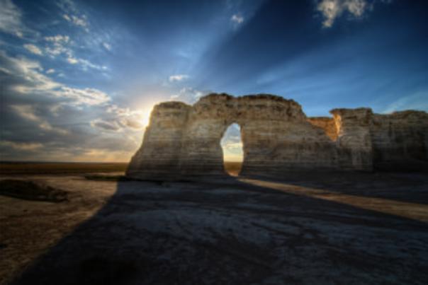 Monument Rocks is an iconic landmark in Kansas.