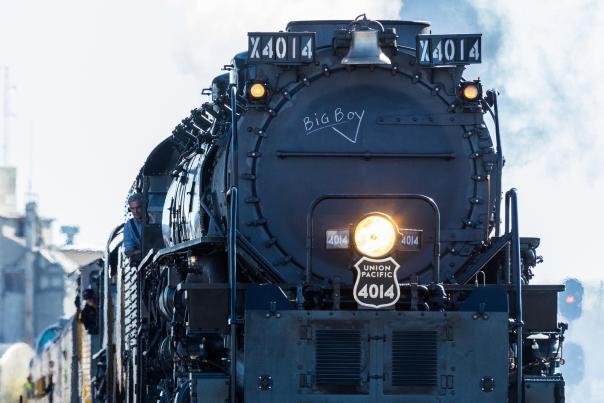 U.P. Big Boy steam locomotive in Kansas