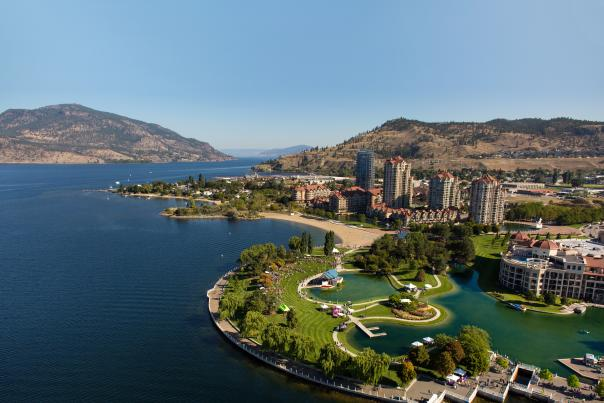 Aerial view of Kelowna