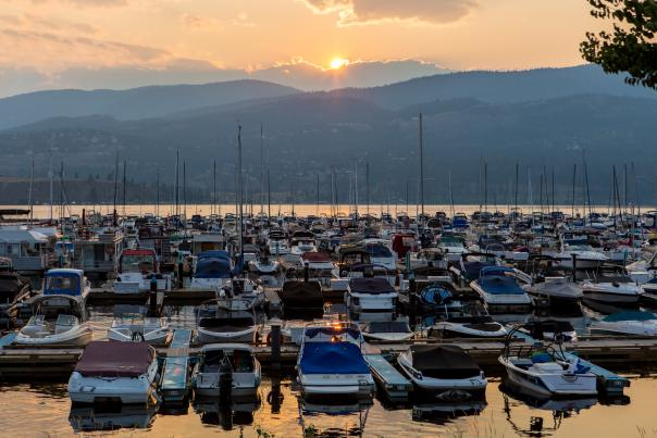 Downtown Kelowna and Kelowna Yacht Club Marina (KYC)