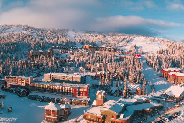 Big White Ski Resort Village - Aerial