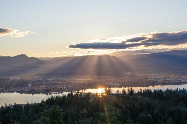 Rose Valley Regional Park - View of Kelowna Sunrise