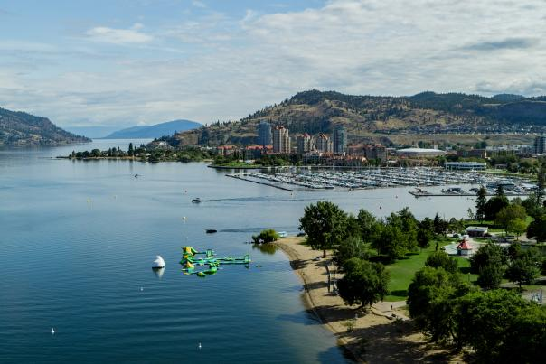Downtown Kelowna Aerial (Summer)