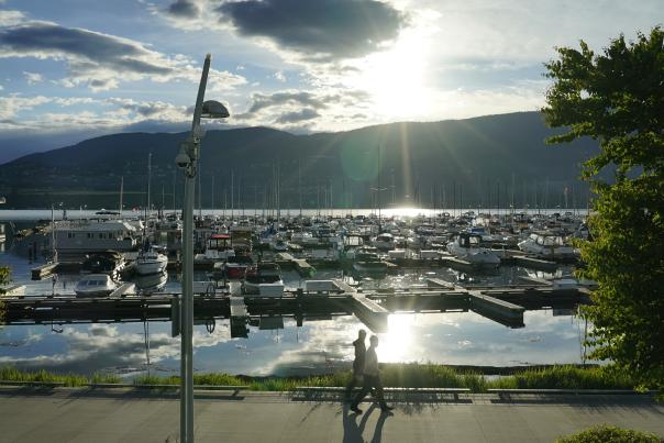 Waterfront Boardwalk Downtown Kelowna