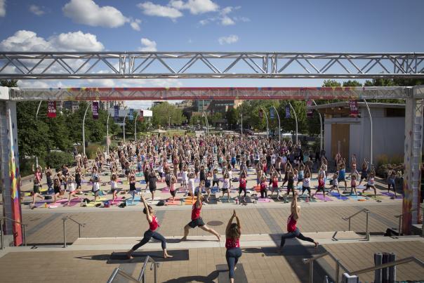 Okanagan's Largest Outdoor Yoga Class