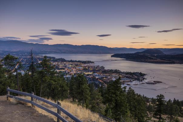 Downtown Kelowna view from Knox Mountain
