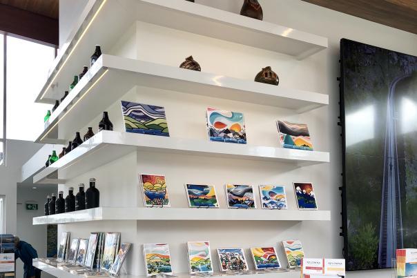 Shelves at Visitor Centre