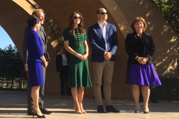 Will and Kate at Mission Hill Winery