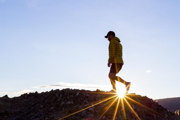 Hiking Mount Boucherie at Sunset