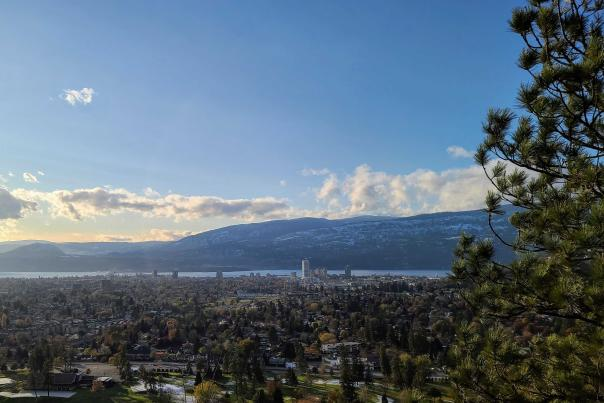 Aerial of Kelowna from Dilworth Mountain - November 2020