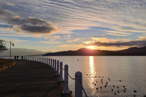 Waterfront Park Sunset - January 2021
