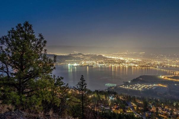 Kelowna at Night in November