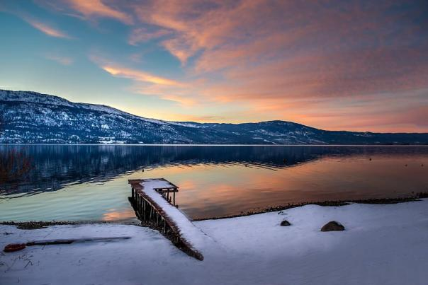 Winter Sunset at Lake