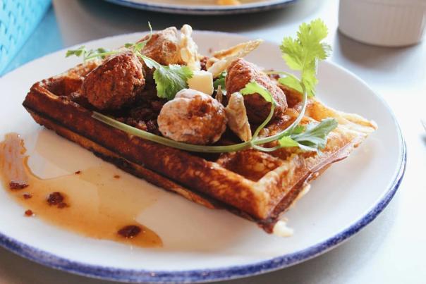 Chicken & Waffles at Sunny's