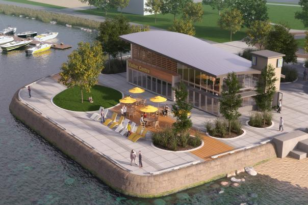New Kelowna Visitor Centre Concept Rendering