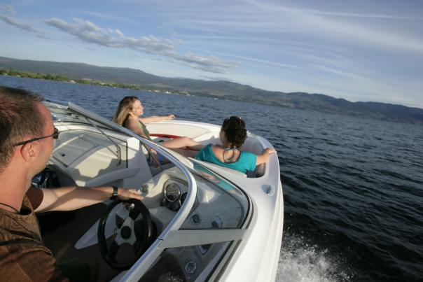 Boating on Lake Okanagan, Kelowna BC