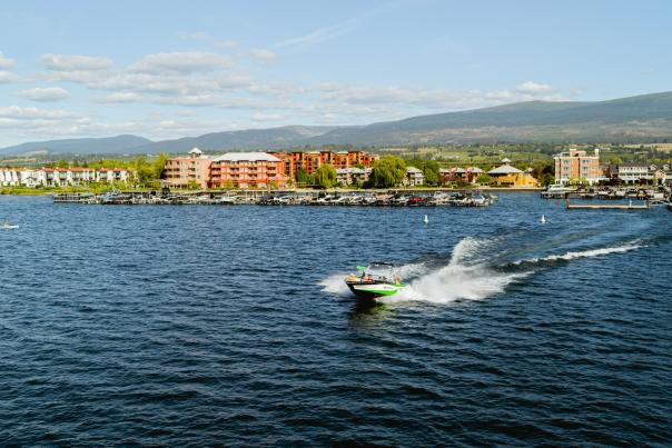 Boating on Okanagan Lake