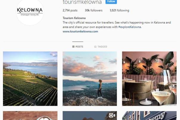 Tourism Kelowna Instagram