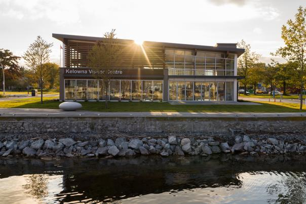 Kelowna Visitor Centre from Okanagan Lake