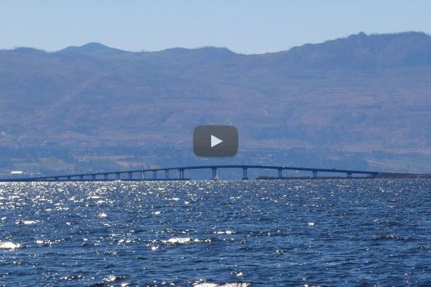 Okanagan Lake with Play Button