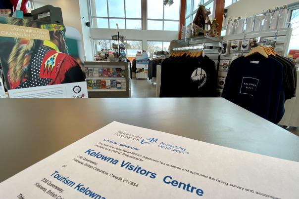 Kelowna Visitor Centre Rick Hansen Foundation Certification