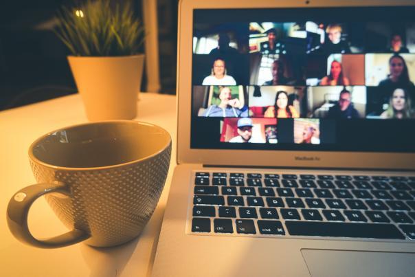 Stock image - virtual meeting