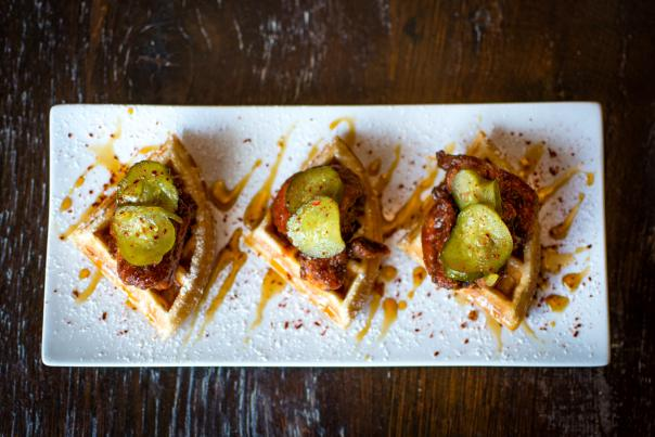 Social's Hot Hot Chicken & Waffles