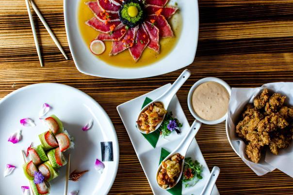 Tsunami Sushi Food Spread