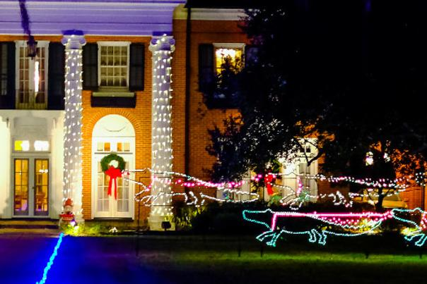 Christmas Lighted House