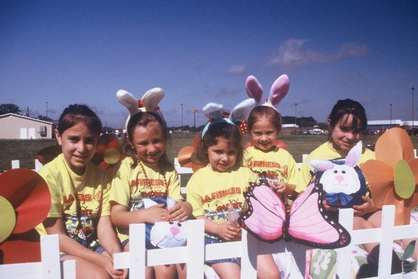 Kids Dressed as Rabbits at Iowa Rabbit Festival
