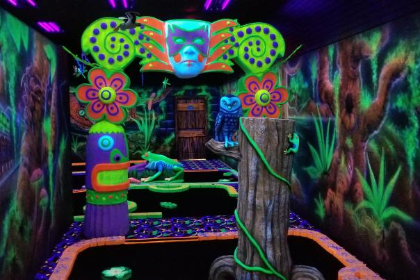Bayou Magic Fun Center Black Light Golf